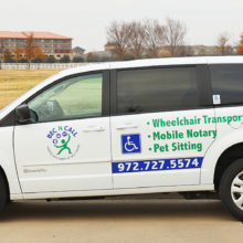 wheelchair vans, wheelchair transportation, airport transportation, errands, pet sitting, house sitting