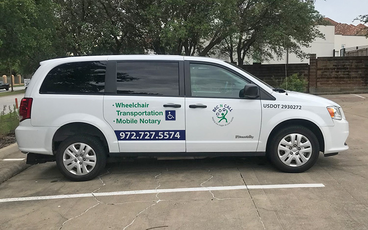 wheelchair transportation, car service, errands, notary, pet sitting